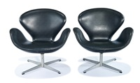 swan chairs (2) by arne jacobsen