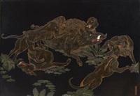 scène de chasse au sanglier by vladimir karpoff