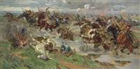 the red cavalry at perekop by nikolai semenovich samokish