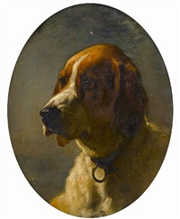 study of the head of a hound by george earl
