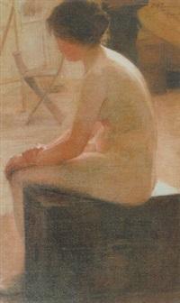 modelo femenino desnudo by carlos maría herrera