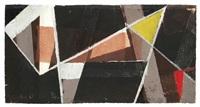 komposition mit gelbem und rotem dreieck by erhard hippold