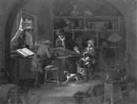 l'intérieur du cabinet de l'alchimiste by vincent laurensz van der vinne the elder