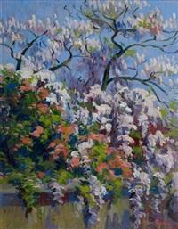 arbre en fleurs by michel frechon