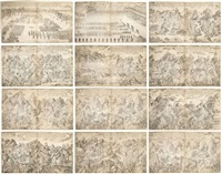 les conquetes de l'empereur qianlong, campagne de liang jin chuan (si chuan) (album w/16 works) by ignatius sichelbarth and he qingtai