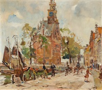 view of hoorn by erasmus bernhard van dulmen krumpelman