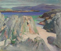 a beach landscape by william mervyn glass