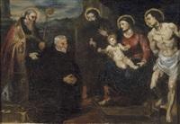 la vierge au donateur, d'après tintoretto by henri evenepoel