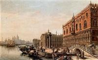 veduta di palazzo ducale a venezia by victor vervloet