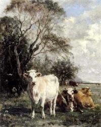 vaches au pré by marie dieterle