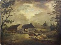 la rentrée des troupeaux by pierre louis de coninck