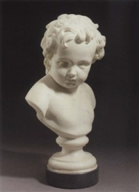 a bust of a young boy by edward gustavus physick
