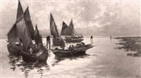 fischerboote vor der kuste by g. pialina