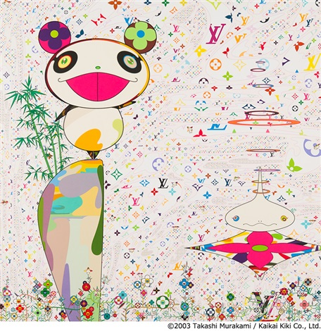 superflat monogram panda his friends by takashi murakami