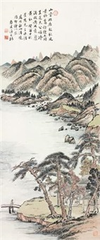 秋山清晓 (landscape) by wen qiqiu