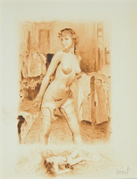 nudes (5 works) by paul-emile becat