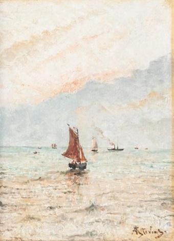 bateaux en mer by alfred stevens