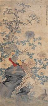 仿宋元花鸟 (flower and bird copying from song and yuan dynasty) by jiang jie