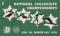 national collegiate championships/dartmouth (poster) by posters: sports - skiing