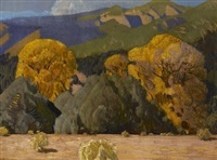 juniper and cottonwood by ernest leonard blumenschein