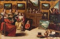 le cabinet díamateur (or allégorie des cinq sens) by pieter lisaert