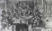 scene de banquet by johann liss