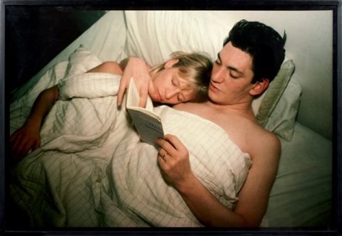 patrick terri reading baudelaire new york by nan goldin