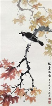 枫叶瑞禽 by cai gongheng