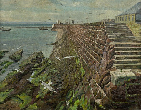 arbroath harbor by james mcintosh patrick