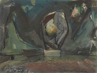 standing mitt with ball, in greenwich site by claes oldenburg