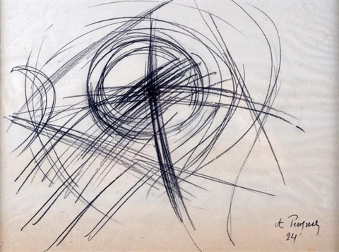 composition abstraite by antoine pevsner