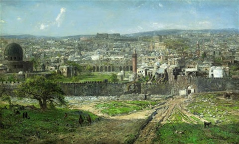 A View Of Jerusalem Seen From The East With Temple Mount And