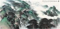 黄山春晓 镜片 设色纸本 by li xiongcai