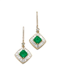 pair of pendent earrings by adler