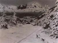 winter sunrise in the alpines by christian baumgartner
