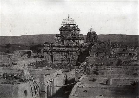 four architectural views at pattadakal from architecture in dharwar and mysore 4 works by thomas biggs