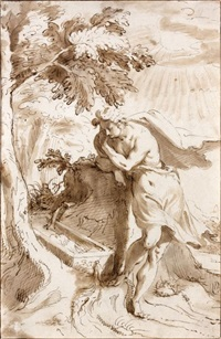 narcisse à la fontaine by peeter de jode the elder