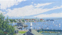 entering nantucket harbor by thomas r. dunlay