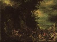 a rocky landscape with the conversion of saint paul by marten van valkenborch the elder
