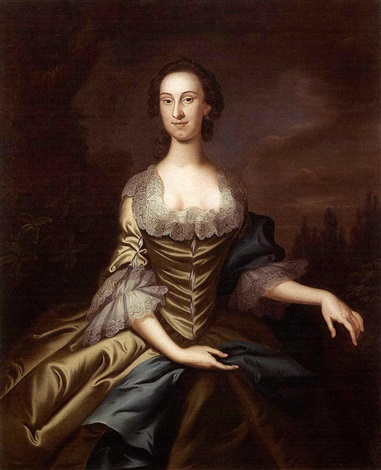 portrait of charles carroll of duddington portrait of mary carroll pair by john wollaston