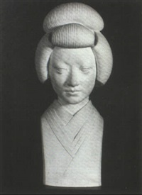 portrait bust by george manuel aarons