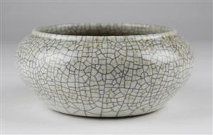 宋哥窑笔洗<br/>a song dynasty ge kiln style ceramic calligraphy brush washer