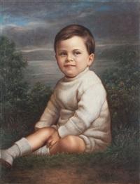 portrait of alan lindauer graham, henry partridge's grandson by gottfried lindauer