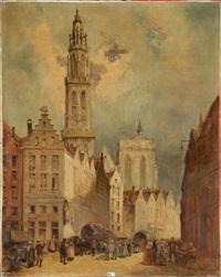 scène de rue à anvers by françois stroobant