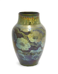 vase with stems of wild roses by gordon forsythe