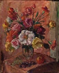 gartenblumen in vase by fritz fischer