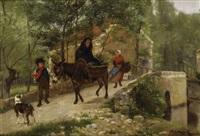 descente au village by camille léopold cabaillot lassale
