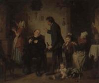 besuch des pastors by leopold loeffler