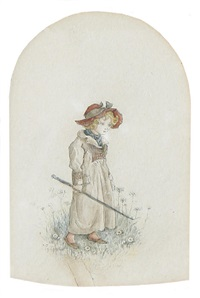 young girl by kate greenaway