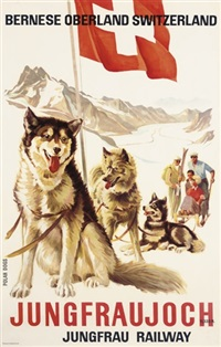 jungfraujoch, jungfrau railway, polar dogs by eduard weber